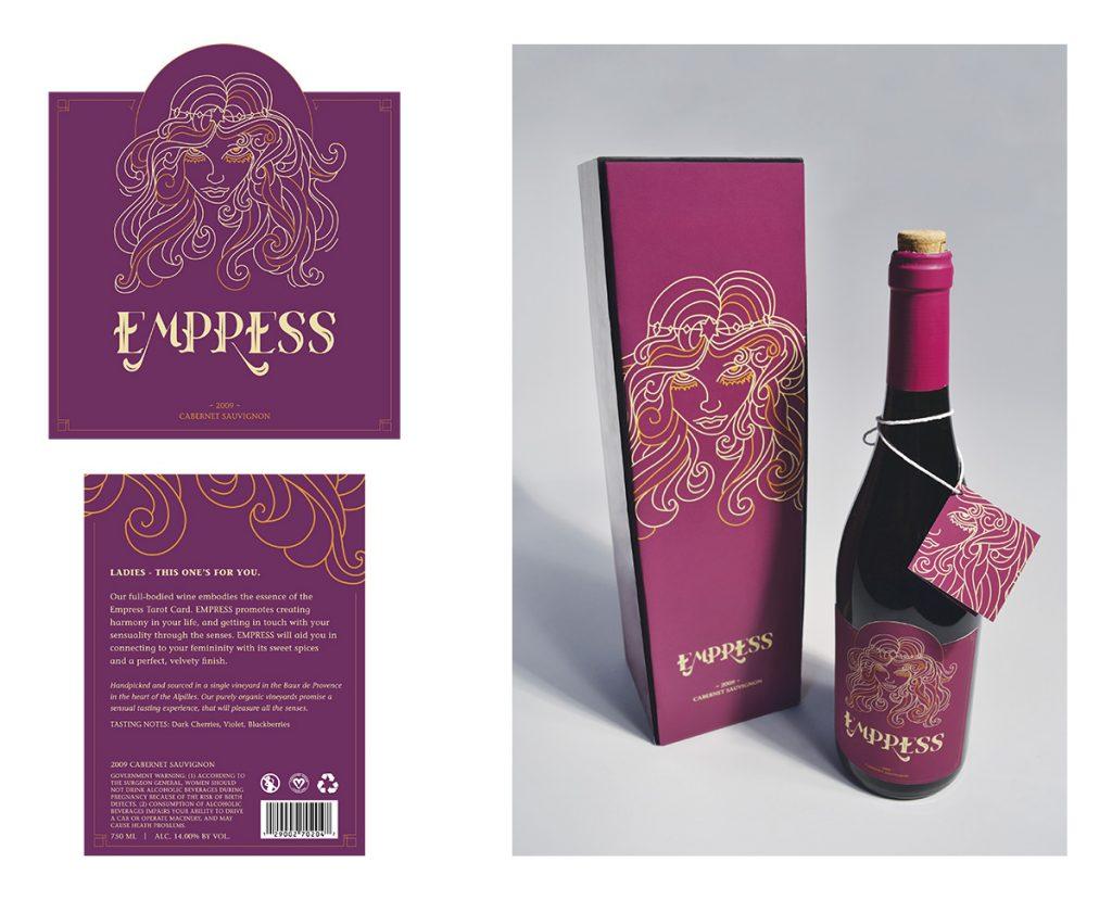 GOLD - Sarah Styron – Packaging – Empress Wine GOLD - Sarah Styron – Packaging – Empress Wine