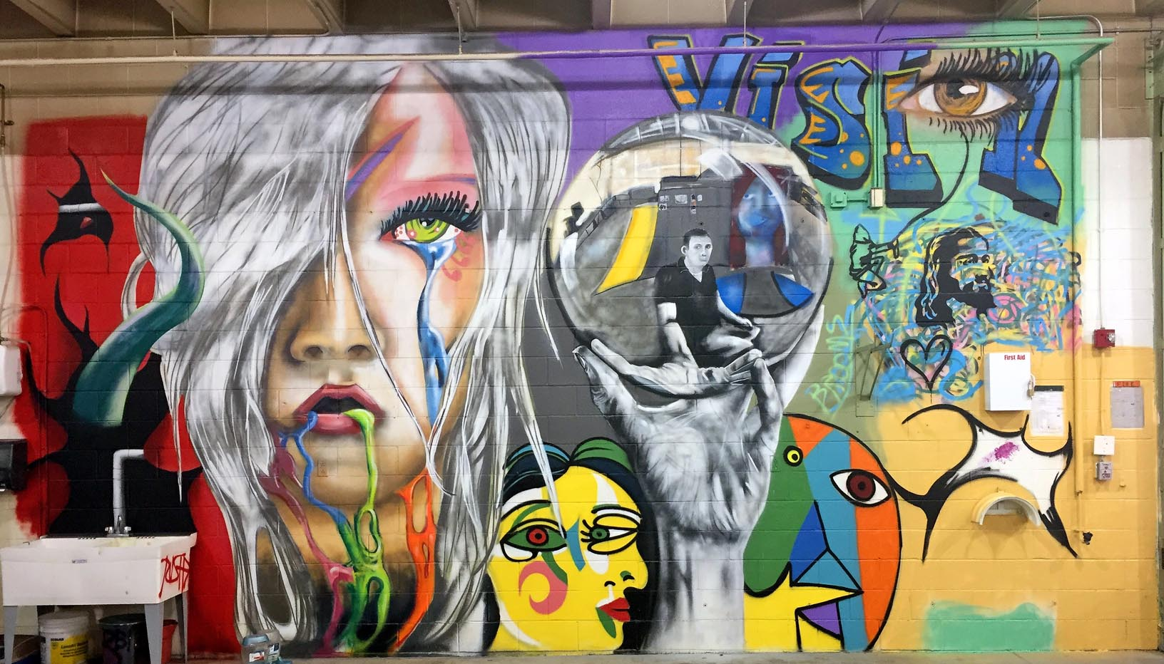 This graffiti artist is different unk alumnus josh arias uses art josh arias and derek rusher painted this mural at the youth rehabilitation and treatment center in altavistaventures Image collections