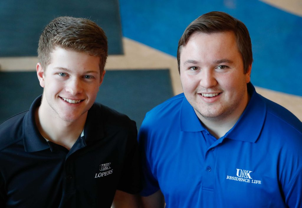 Logan Krejdl, left, and Taylor Janicek will be the next student body president and vice president, respectively, at the University of Nebraska at Kearney. (Photo by Corbey R. Dorsey, UNK Communications)