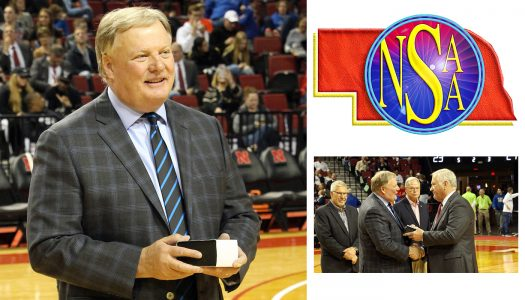 NSAA honors Chancellor Kristensen with Distinguished Service Award