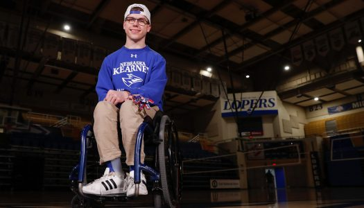 Born with cerebral palsy, Andrew Dubowsky embraced by UNK athletes he inspires