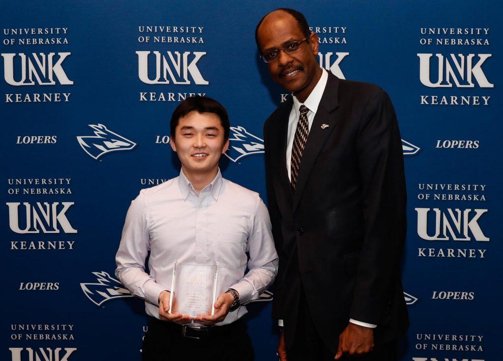 Outstanding Student Employee for UNK Service - Yusuke Nogi