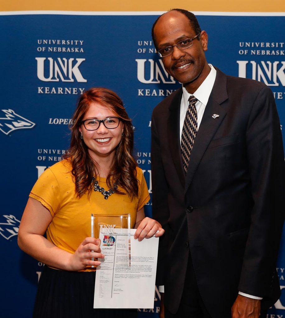 Student Employee of the Year - McKenzie Cuba