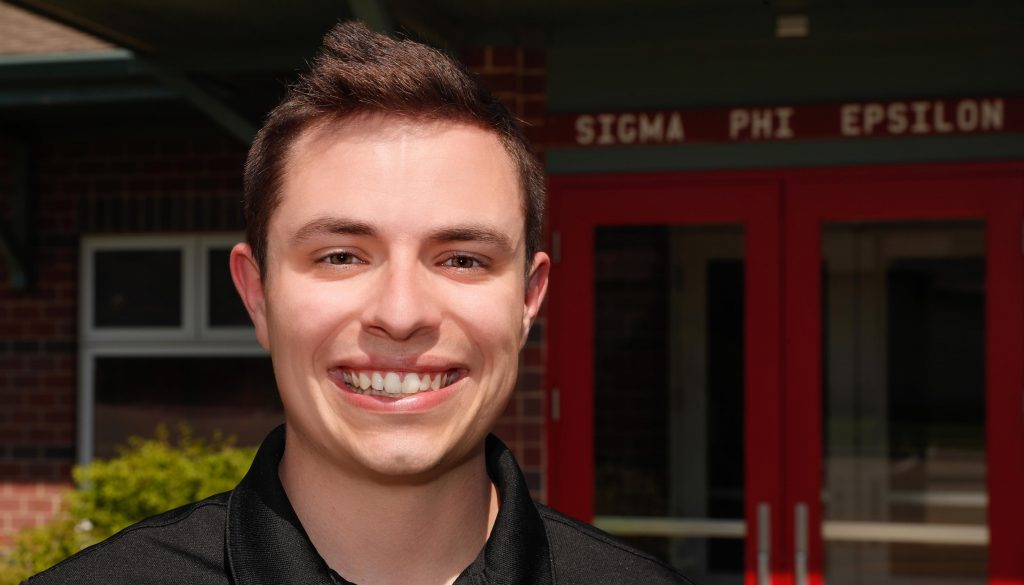 Austin Jacobsen was selected for Sigma Phi Epsilon's Tragos Quest to Greece, a 10-day journey through the European country to learn about the beginnings of fraternity life and reinforce Sig Ep's core values. (Photo by Corbey R. Dorsey, UNK Communications)