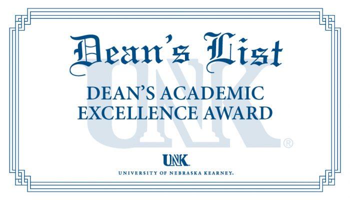 University of Nebraska at Kearney announces dean's list for 2019 spring semester