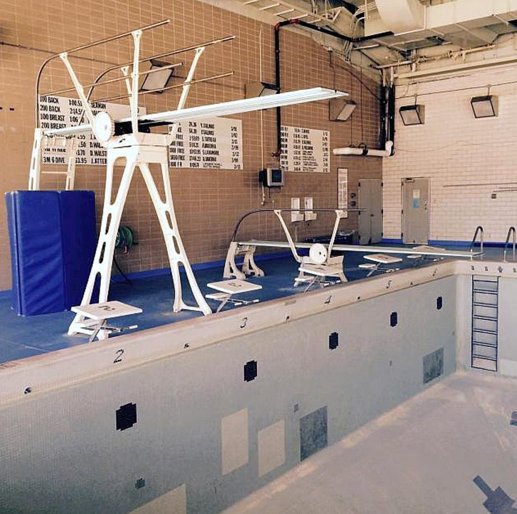 Diving boards, kickboards, timing systems and other items from the recently decommissioned campus swimming pool are among items available at Friday's UNK surplus auction.