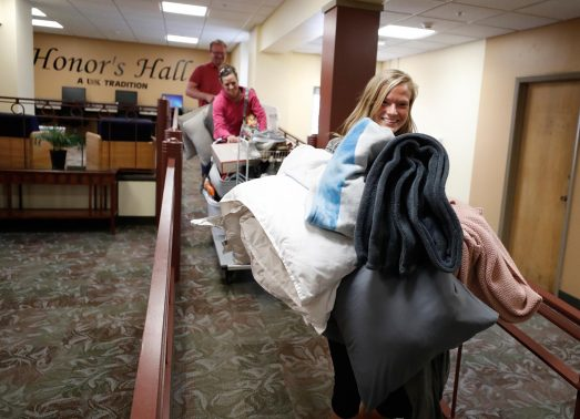 Moving out: It's a hectic and emotional process at UNK