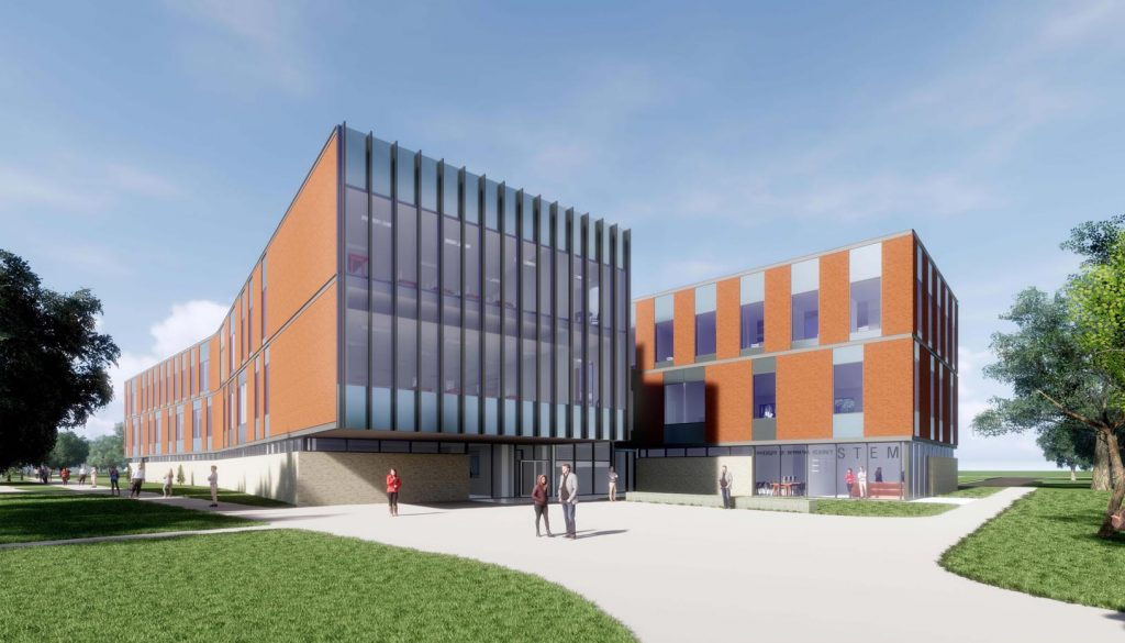 The University of Nebraska at Kearney's new STEM building will house construction management, industrial distribution, interior design, aviation, computer sciences and information technology, math, science, engineering and physics/astronomy programs.