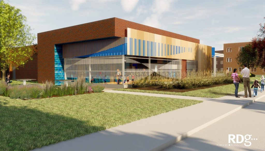 The LaVonne Kopecky Plambeck Early Childhood Education Center at the University of Nebraska at Kearney is the first academic footprint on UNK's developing University Village development. It will become a model for early childhood education, early childhood educator preparation, and research.