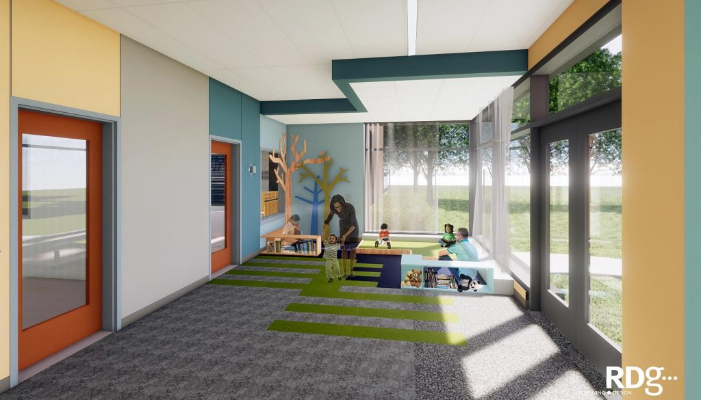 The LaVonne Kopecky Plambeck Early Childhood Education Center at the University of Nebraska at Kearney will have a capacity for 176 children from infant to age six.