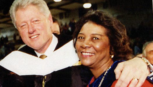 Gladys Styles Johnston hosted the only visit to UNK by a sitting president when Bill Clinton visited campus in 2000. Johnston died Wednesday at age 79.