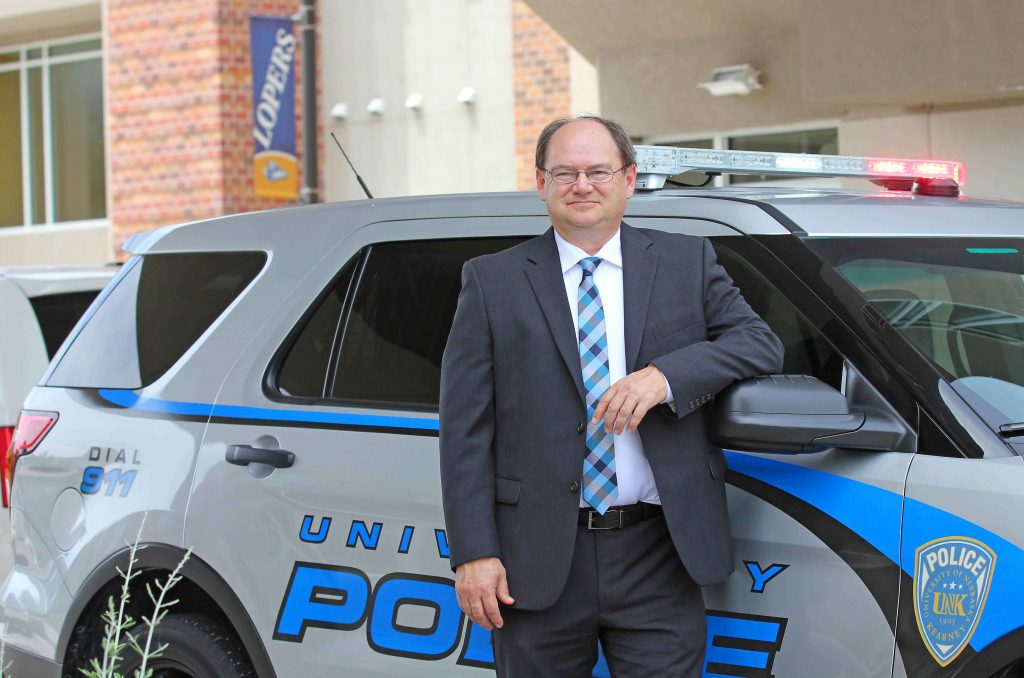 UNK Police Chief Jim Davis recently was given the Law Enforcement Coordination Award presented by the U.S. Attorney's Office in Nebraska. Davis was credited for improving relationships among local, state and federal law enforcement agencies. (UNK file photo)