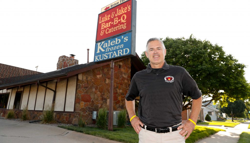 Ty Strawhecker, who opened Luke & Jake's Bar-B-Q in 1995, is closing the business and selling the Kearney property at 807 W. 25th St. to the University of Nebraska at Kearney. (Photo by Corbey R. Dorsey, UNK Communications)