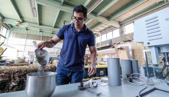 University of Nebraska at Kearney researchers testing corn's ability to improve, strengthen concrete