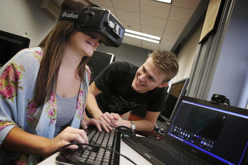Students can explore a variety of academic programs within the new cyber systems department at the University of Nebraska at Kearney. (Photo by Corbey R. Dorsey, UNK Communications)