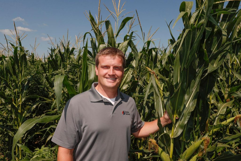 Adam Haag says the UNK agribusiness program prepared him well for his career with Syngenta. Haag, who graduated from UNK in 2009, is currently a Golden Harvest district manager, overseeing a team selling corn and soybean seed throughout Nebraska. (Photo by Corbey R. Dorsey, UNK Communications)