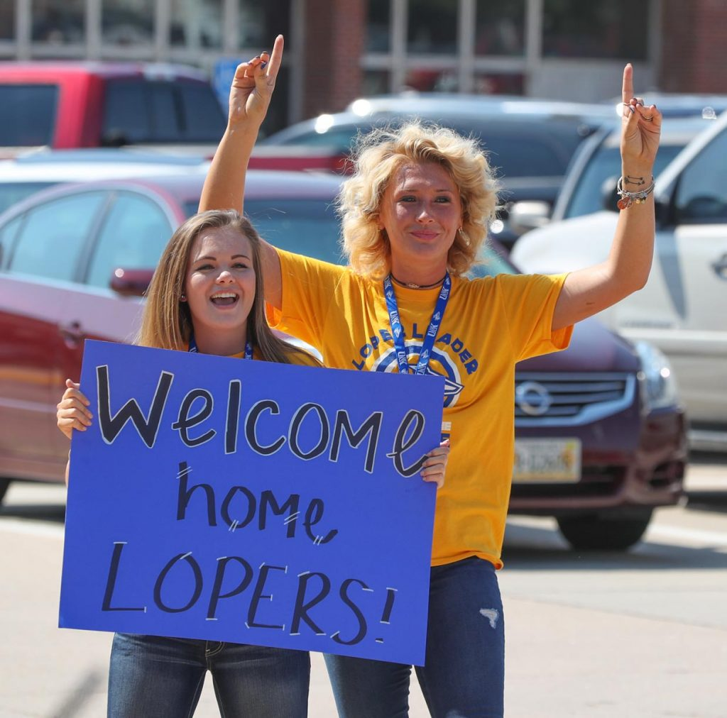 Student move-in day at the University of Nebraska at Kearney is Friday, and classes begin Monday. Blue Gold Community Showcase, the annual welcome festival where more than 200 businesses and campus organizations set up booths, is 5-8 p.m. Friday on the Campus Greens near the Bell Tower.