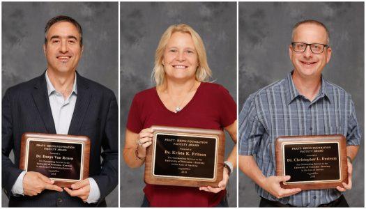 Pratt-Heins Awards recognize Exstrom, Fritson, Van Renen as outstanding UNK faculty