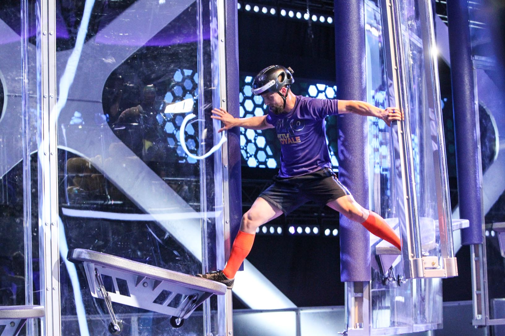 """Bryce Abbey competes in """"TKO: Total Knockout's"""" Battle Royale, which he won. (Photo by Sonja Flemming, CBS ©2018 CBS Broadcasting)"""