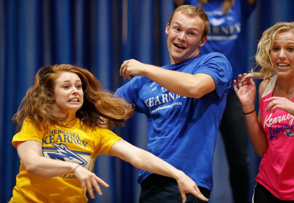 The state's largest lip-sync contest, which regularly draws a crowd of more than 1,500 people, is 7 p.m. Thursday (Sept. 13) inside UNK's Health and Sports Center. It is followed by the crowning of UNK's homecoming royalty. (Photo courtesy UNK Communications)