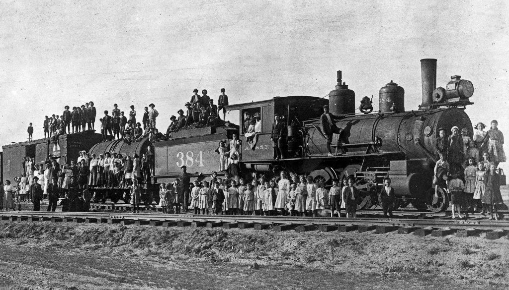 The Orphan Train Movement, which lasted from 1854 to 1929, is named after the trains that relocated 250,000 children from streets of crowded East Coast cities and orphanages to homes and farms mainly in the rural Midwest. (Photo courtesy of The Orphan Trains and Newsboys of New York)