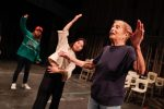 """Patricia Birch works with UNK students as they rehearse for upcoming performances of """"Orphan Train: The Musical."""" Birch is an award-winning dancer, choreographer and Broadway director who has won two Emmys. (Photo by Corbey R. Dorsey, UNK Communications)"""