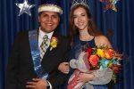 Anna Wegener of Lindsay and Odwuar Quiñonez of Lexington were crowned homecoming queen and king Thursday at the University of Nebraska at Kearney. (Photo by Corbey R. Dorsey, UNK Communications)
