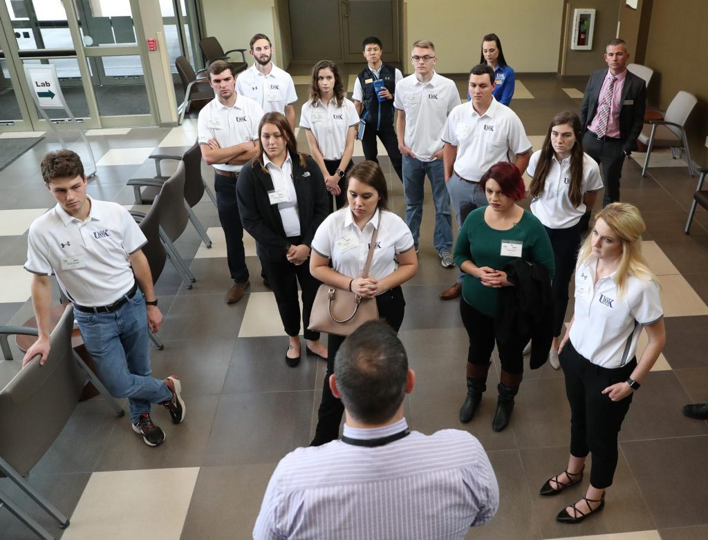 UNK students participating in the NEXT program tour Kearney Regional Medical Center during the 2018-19 session. (Photo by Corbey R. Dorsey, UNK Communications)