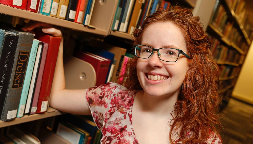 UNK archivist Laurinda Weisse helped launched a new digital repository at the university, which collects and stores valuable content from faculty, researchers, students and staff, as well as select items from the university archives. (Photo by Corbey R. Dorsey, UNK Communications)