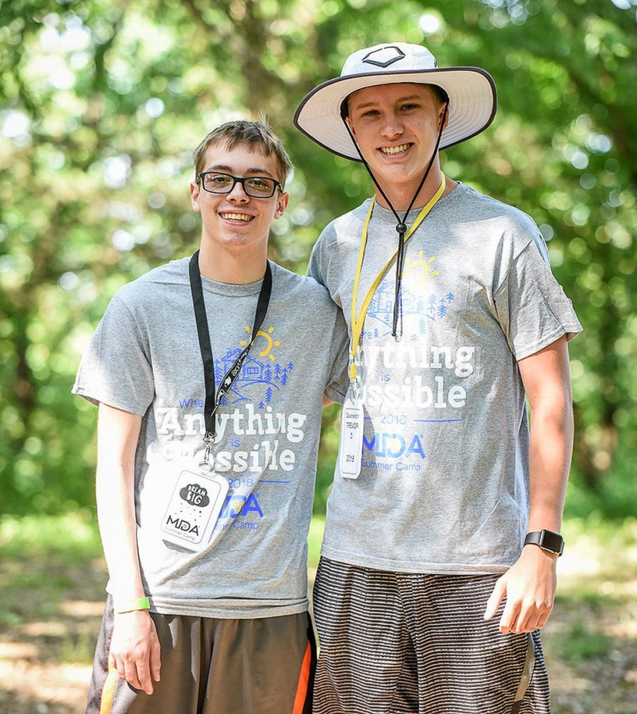 Trevor Daubert witnessed muscular dystrophy's impact last summer while serving as a counselor during a weeklong camp organized by the Muscular Dystrophy Association of Nebraska. (Courtesy photo, MDA of Nebraska)