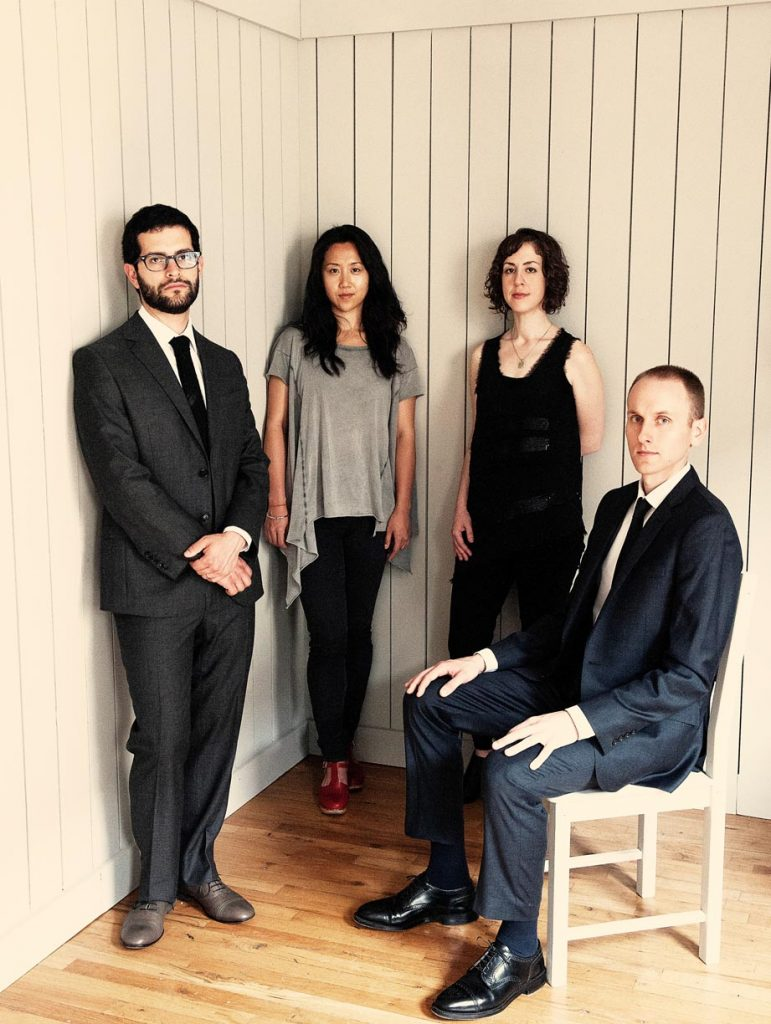 New York City-based Yarn/Wire, a quartet of two percussionists and two pianists, will perform 7:30 p.m. Friday (Oct. 5) at UNK's Fine Arts Recital Hall to kick off the fifth season of the New Music Series. (Photo courtesy Bobby Fisher)