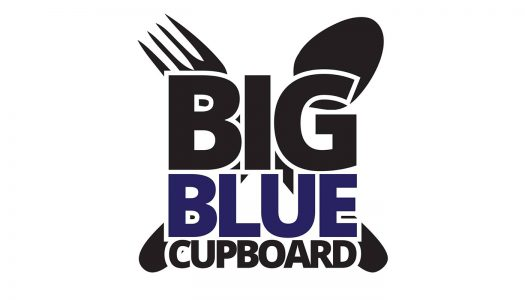 Leadership UNK food drive collecting items for Big Blue Cupboard