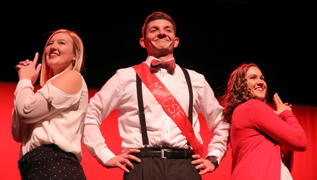 Christian Student Fellowship's Connor Gosnell of Maxwell was named Mr. Popularity