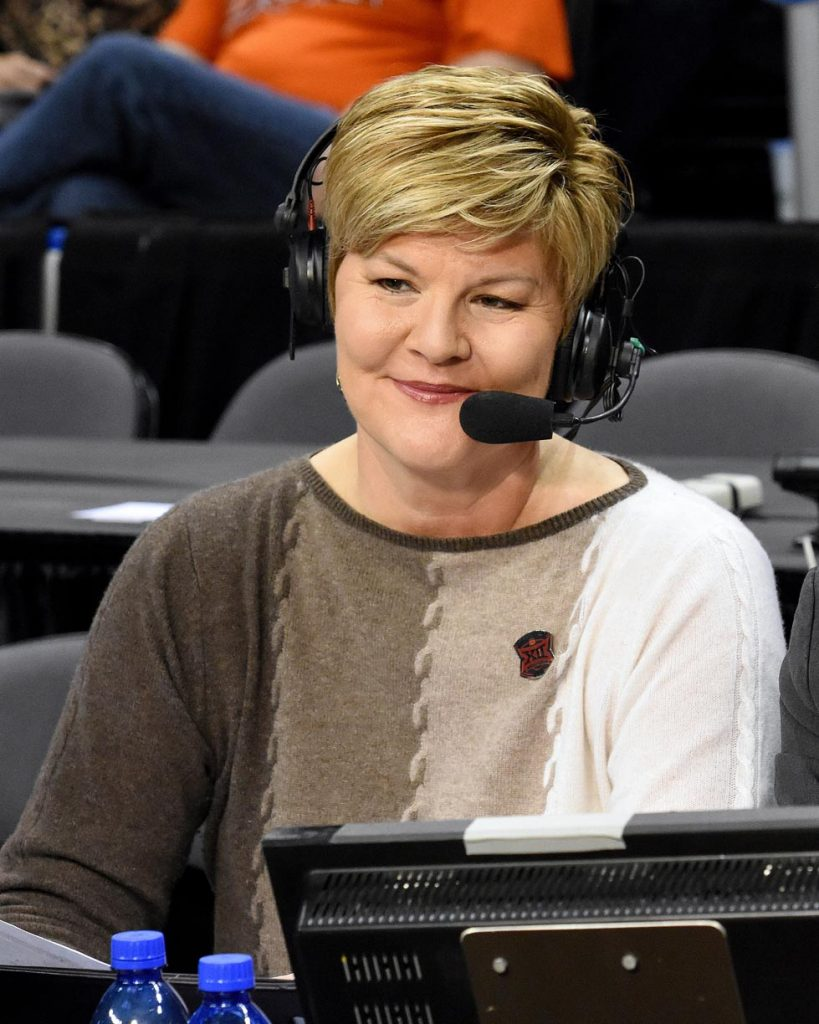 Kearney State College alumna Brenda VanLengen has been a sports broadcaster and analyst for more than two decades, working for ESPN, Fox Sports and other national networks. She's called 12 national championship games. (Scott D. Weaver/Big 12 Conference)