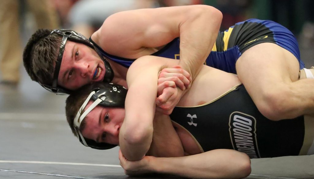 UNK wrestler Matt Malcom, ranked No. 1 in Division II at 157 pounds, is 22-5 this season with a team-best seven major decisions. He's lost just once to a Division II opponent while earning victories over five wrestlers ranked in the top 12. (Photo by Corbey R. Dorsey, UNK Communications)