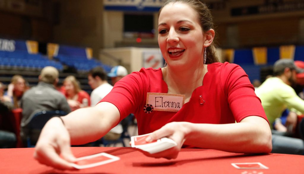 Proceeds from Alpha Phi's Red Dress Poker Tournament benefit the Alpha Phi Foundation, which supports women's heart health education and research. Last year's tournament raised about $9,000 for the cause. (File Photo, UNK Communications)