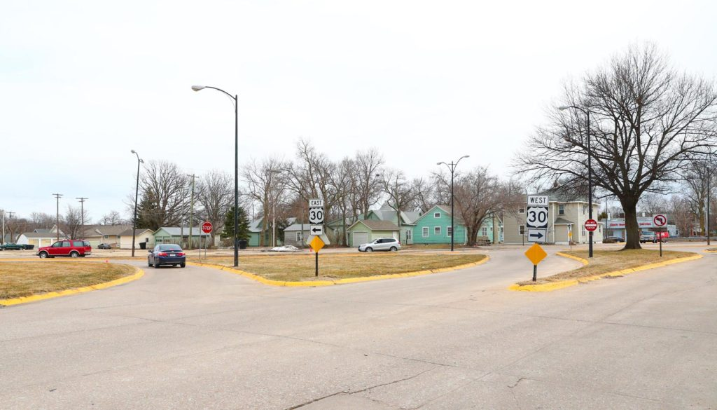 A $2 million Nebraska Department of Transportation project includes a redesign of the Y-shaped Ninth Avenue intersection on the east edge of UNK's campus. It will prevent southbound vehicles from turning left onto eastbound Highway 30.