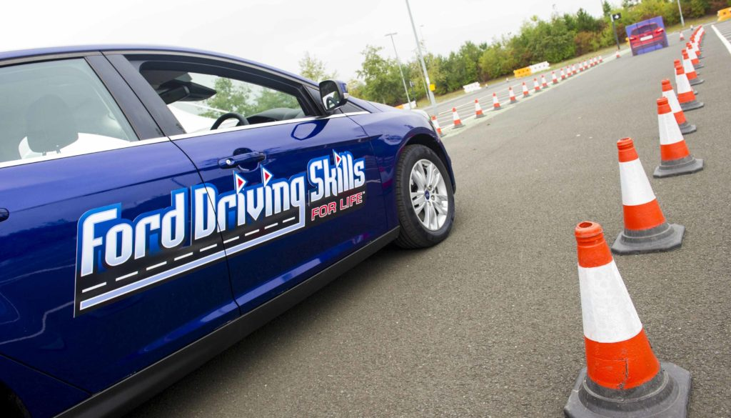 Teenage drivers will navigate challenging road courses in the April 13 Ford Driving Skills for Life event hosted by the Nebraska Safety Center. (File Courtesy Ford Driving Skills)