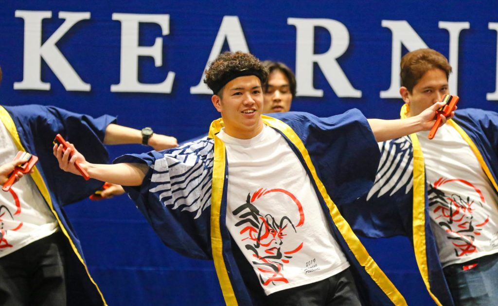 Japanese students perform at Sunday's International Food and Cultural Festival. The event featured dishes from across the world, as well as performances ranging from traditional songs to modern K-pop and Japanese street dancing. (Photo by Todd Gottula, UNK Communications)