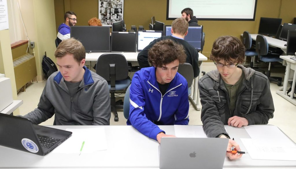 UNK launched its cyber systems department last summer, merging five existing programs into a single, cohesive unit and adding a cybersecurity major. (Photo by Corbey R. Dorsey, UNK Communications)