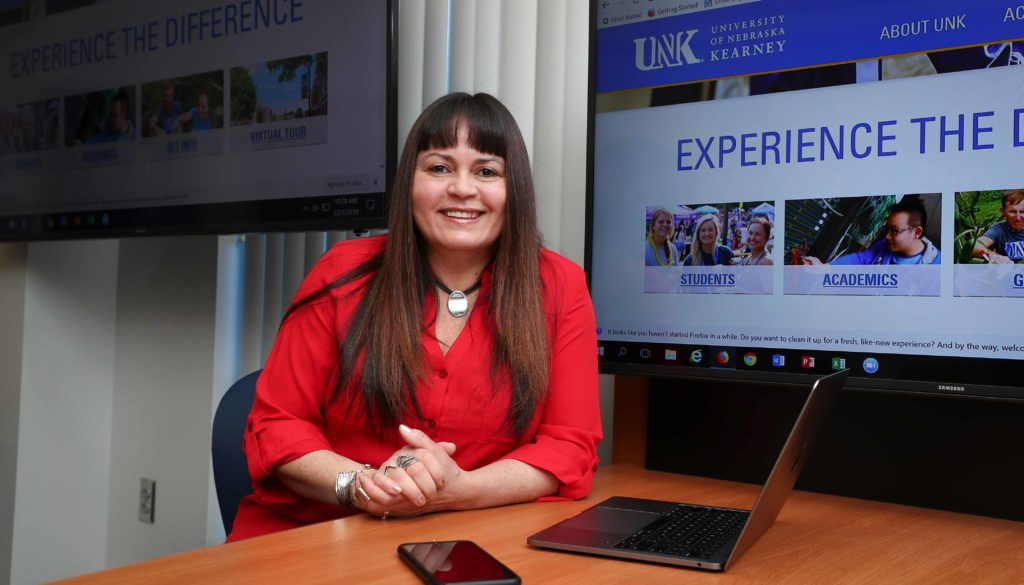 An assistant professor in UNK's Department of Teacher Education, Martonia Gaskill recently took over as director of the instructional technology graduate program. (Photo by Corbey R. Dorsey, UNK Communications)