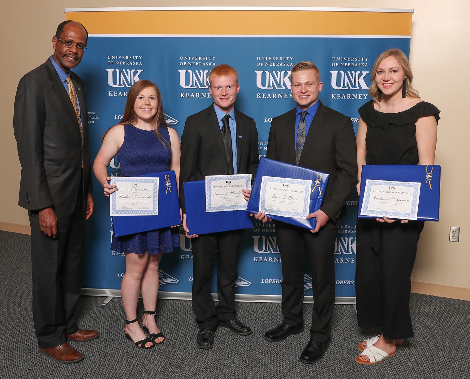 Outstanding Senior Awards - Paula Zakrzewski, Cannon Marchand, Tyan Boyer, Katie Benner