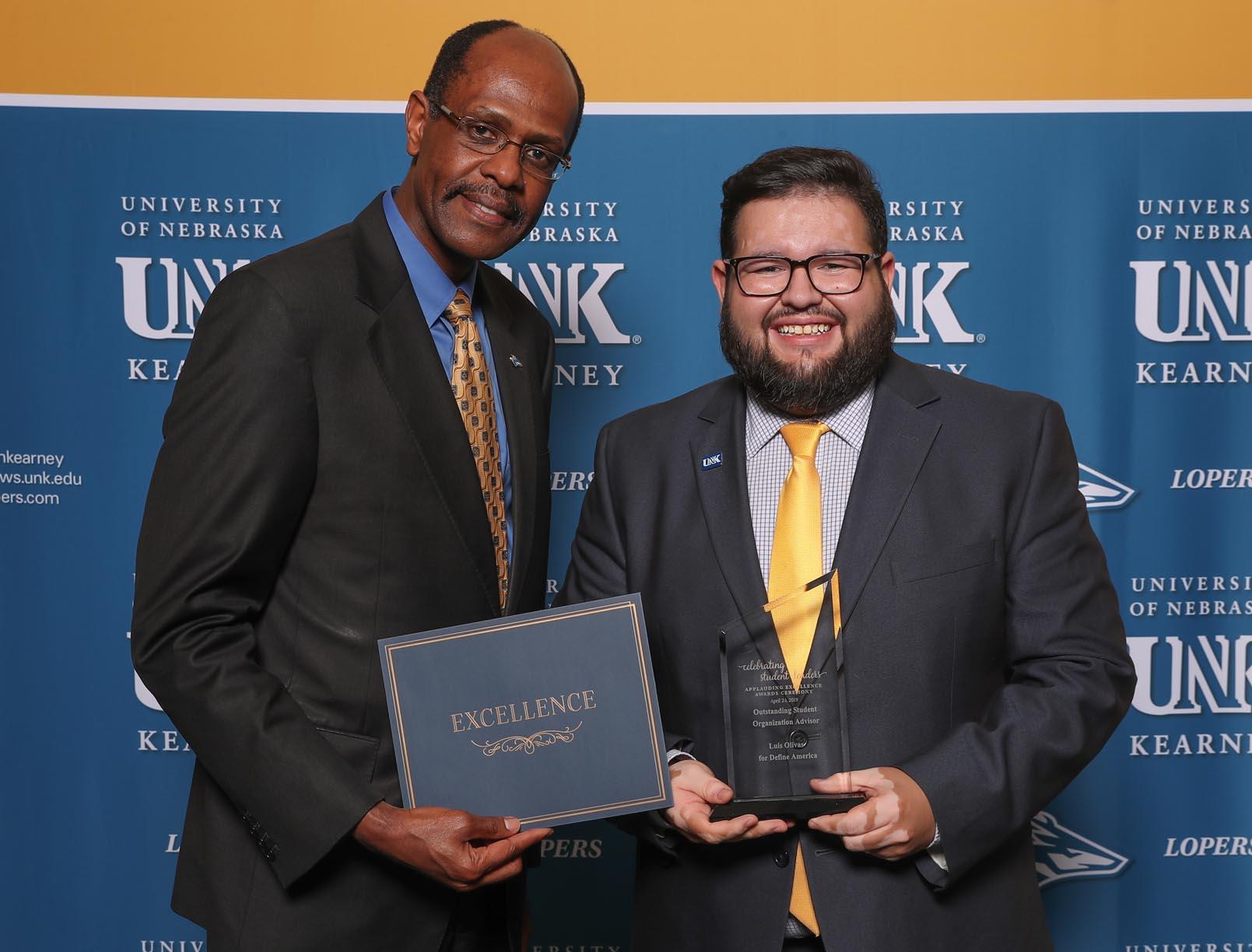 Outstanding Student Organization Adviser - Luis Olivas