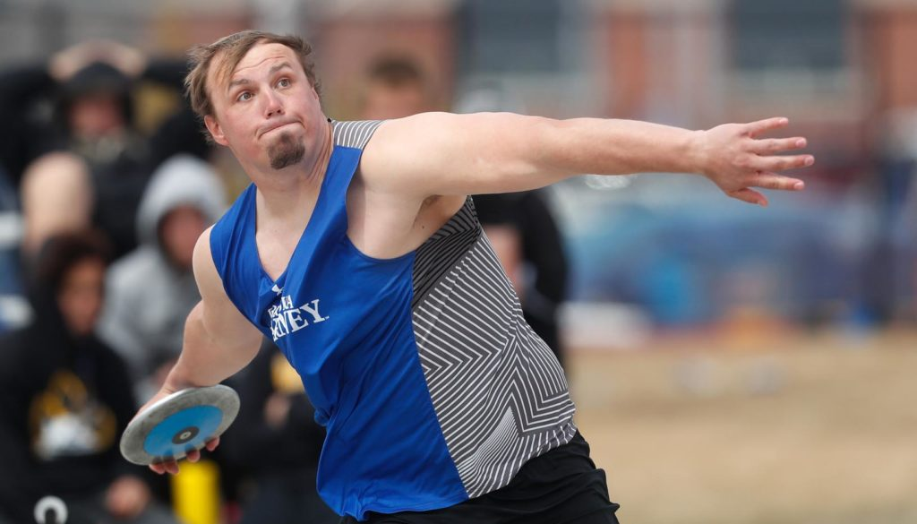 Jacob Bartling is a two-time second-team All-American for the UNK men's track and field team. The exercise science major will graduate Friday, then attend chiropractic school at Cleveland University in Kansas City. (Photo by Corbey R. Dorsey, UNK Communications)