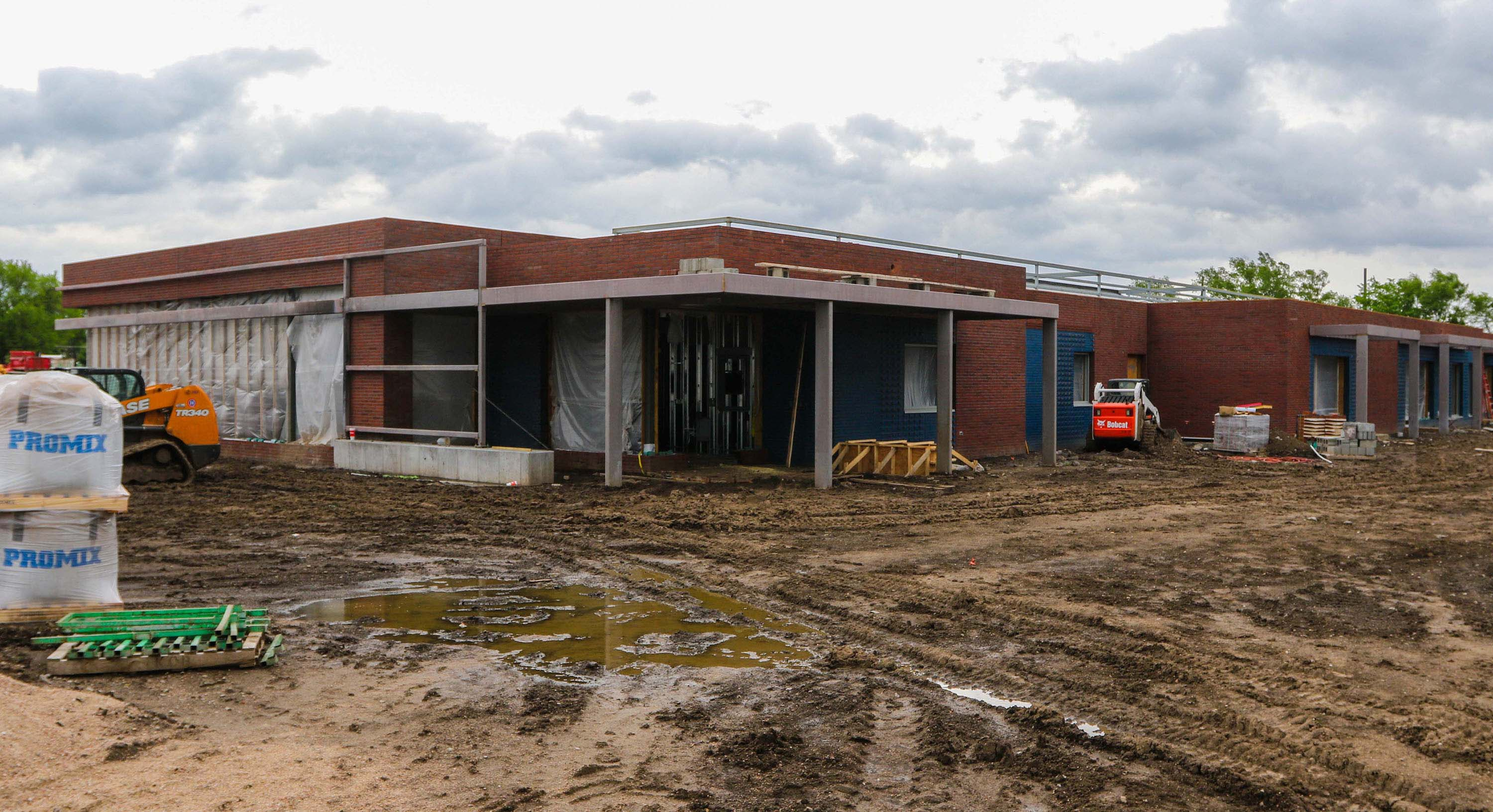 The LaVonne Kopecky Plambeck Early Childhood Education Center is scheduled to open in September on UNK's University Village development just south of U.S. Highway 30. (Photo by Todd Gottula, UNK Communications)