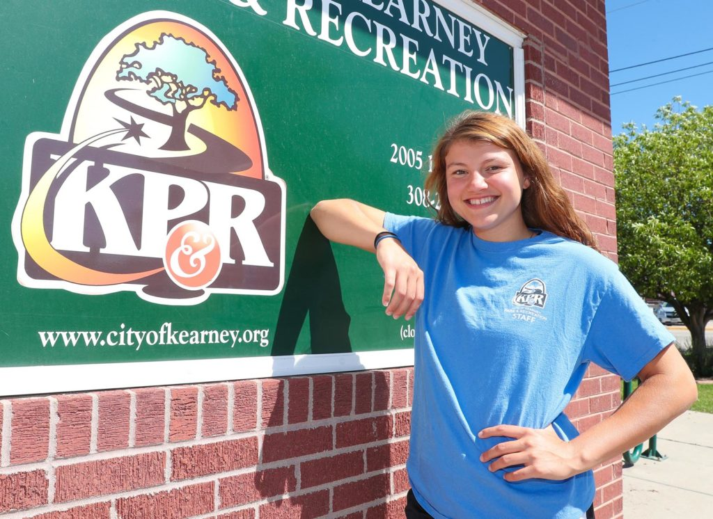 Every student in UNK's recreation, outdoor and event management program ends their education with an internship, giving them an extra level of hands-on experience before graduation. Ellie McDonnell, a senior from Papillion, is completing her internship with Kearney Park and Recreation. (Photo by Corbey R. Dorsey, UNK Communications)