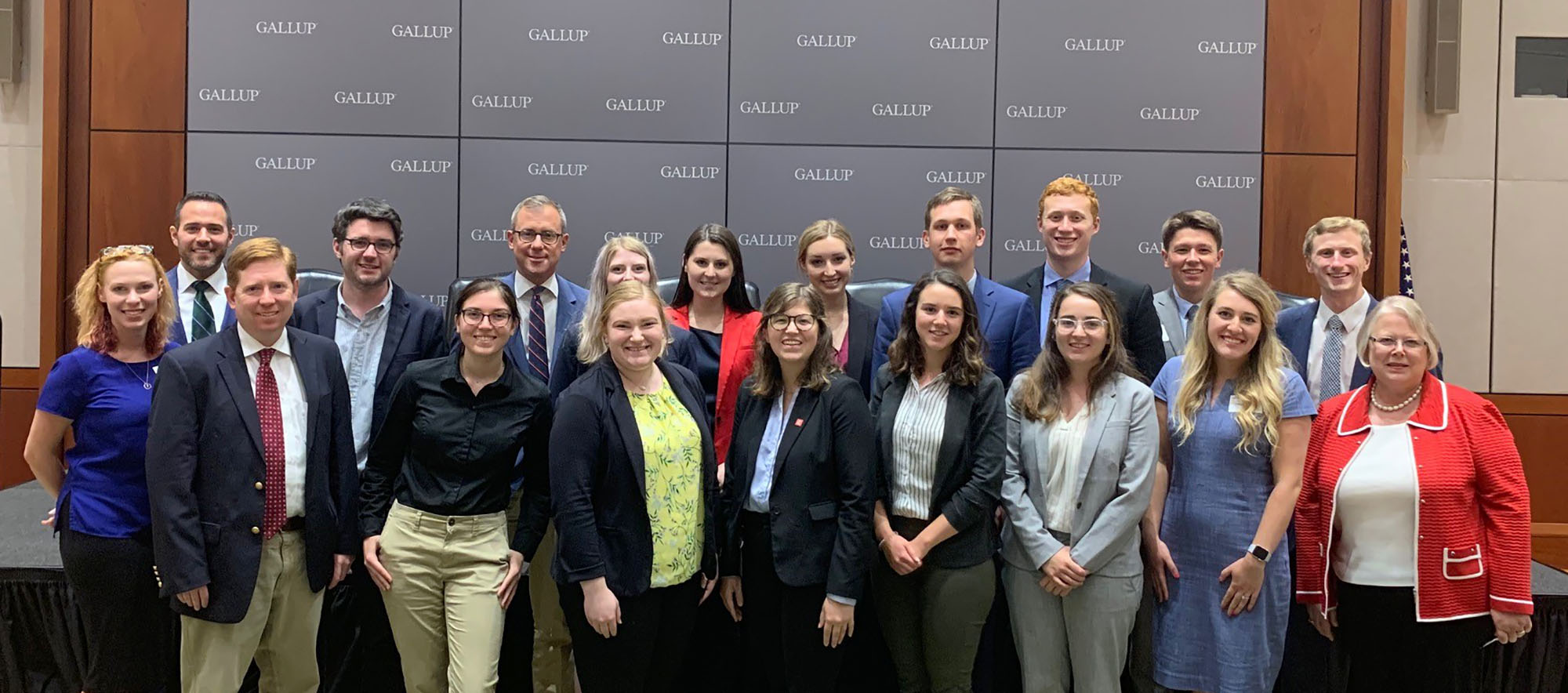 UNK senior Ellery Butterfield, front row, fourth from right, participated in the University of Nebraska's D.C. Professional Enrichment Academy this summer while interning with U.S. Rep. Adrian Smith's office. (Courtesy photo)