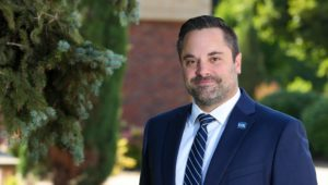 Ryan Teten, the inaugural dean of UNK's College of Arts and Sciences, is excited about the college's potential and his new position back in his home state. The Nebraska native joined UNK in July after 11 years at the University of Louisiana at Lafayette. (Photo by Corbey R. Dorsey, UNK Communications)