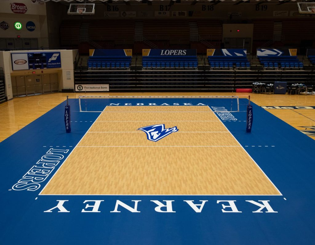 Photo Gallery Loper Volleyball Installs New Taraflex Court