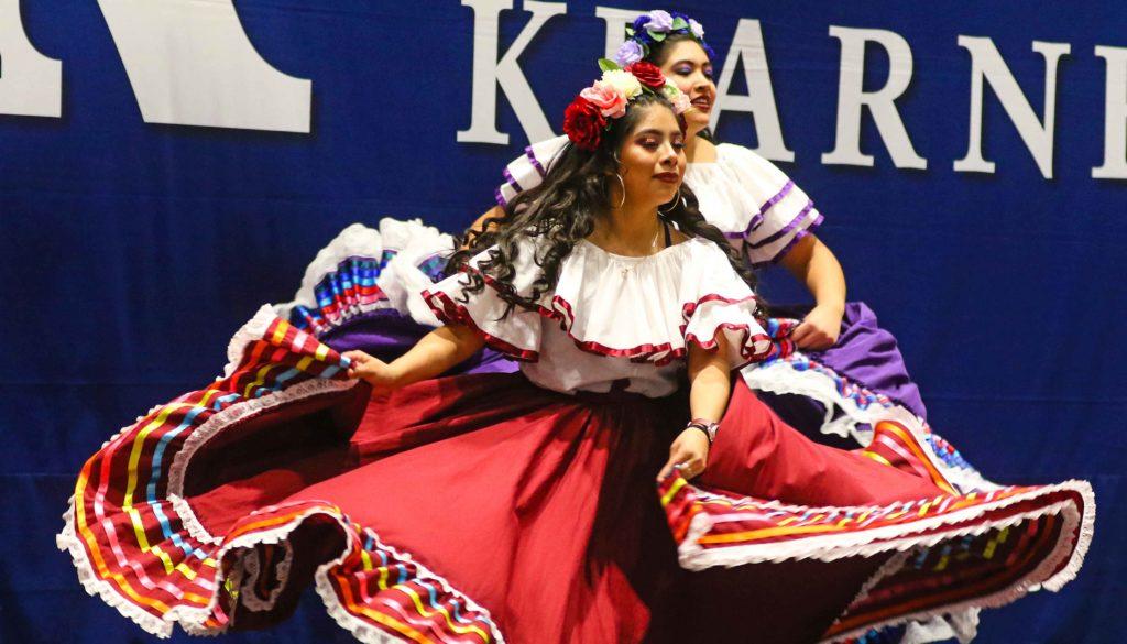 Danza, a University of Nebraska at Kearney student organization, will perform folkloric Latin American dances Sept. 24 at an event celebrating Hispanic Heritage Month. (Photo by Todd Gottula, UNK Communications)